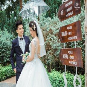 Bộ ảnh cưới Cực Sang Chảnh thực hiện tại Biệt Thự Hoa Hồng (Rosa Valley)