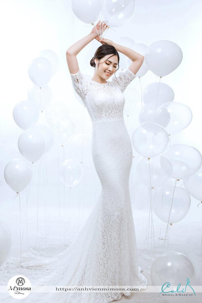 Top 10 váy cưới hở vai dáng suông hiện đại nhất