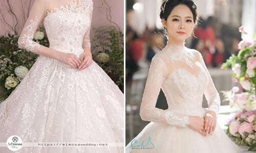 Gợi ý cách chọn váy cưới cho cô dâu có bắp tay to
