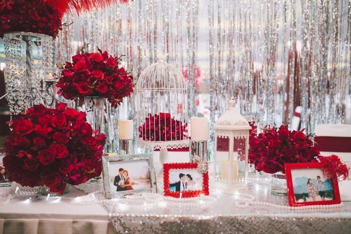 Gợi ý phong cách trang trí đám cưới với hoa hồng cực lãng mạn